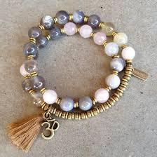 pink quartz bracelet images Botswana agate and pink quartz 27 bead wrap mala lovepray jewelry jpg