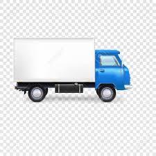 volkswagen van transparent delivery van with box on transparent background vector