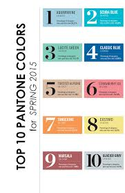 Pantone Colors by Top 10 Pantone Colors For Spring 2015 The Perfect Palette