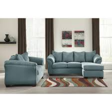 Ashley Sofa Set by Ashley Furniture Darcy Sofa Chaise In Sky Local Furniture Outlet
