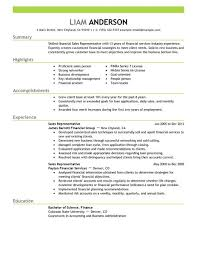 Finance Resume Sample by Best Sales Representative Resume Example Livecareer