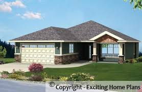bungalow home designs modern house garage cottage blueprints by exciting home plans