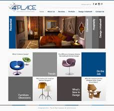 website homepage design the 4th place company website design for interior architecture