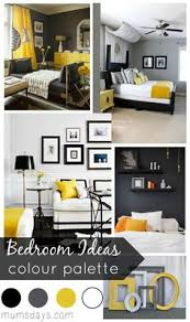 Grey And Blue Decor With Yello Pop Of Color Bedroom Decor - Grey and yellow bedroom designs