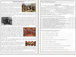 thanksgiving reading comprehension worksheets bundle by mariapht