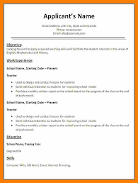 resume outlines examples format of resume for job application to