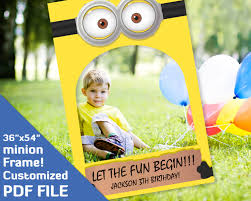 photo frame party favors minion birthday party favors minion photo booth prop printable