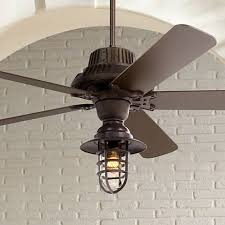 Outdoor Ceiling Fan And Light 60 Industrial Forge Marlowe Cage Outdoor Ceiling Fan 8y417