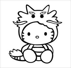 cute dragon kitty vinyl die cut decal sticker 5 00 u2033 black