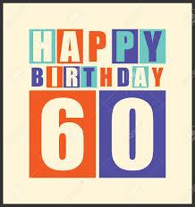 60 years birthday card retro happy birthday card happy birthday 60 years gift card