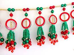 Handicraft Home Decor Items Buy Handicraft Handmade Toran Traditional White U0026 Golden Door