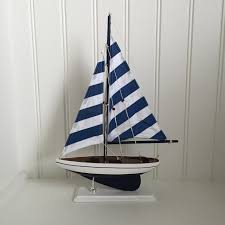 sailboat home decor blue wooden model sailboat model ship model boat wedding