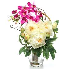 august grove angie peony and orchid silk floral arrangements