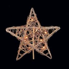 amazon com natural rattan 3d star christmas tree topper clear