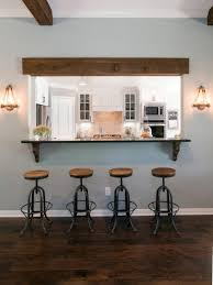 Kitchen Stools For Island Style by Blending Dining Area And Kitchen Space Idea Wooden Kitchen Stools