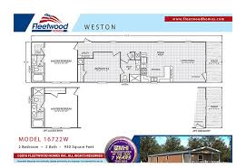 fleetwood weston 16722w 2 bed 2 bath mobile home for sale
