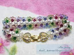pearl bracelet tutorials images 11 best crystal bracelet nr 14 images beading jpg