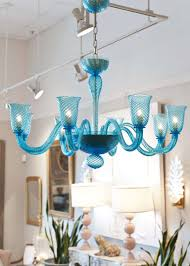 Teal Glass Chandelier Cerulean Blue Murano Glass Chandelier At 1stdibs