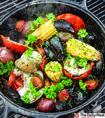 backyard clambake on your grill recipe grilling recipes and