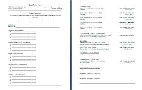 functional accountant resume template formsword word templates