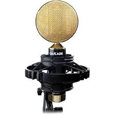 black and gold ribbon cascade microphones ii ribbon microphone 99 5 b h photo