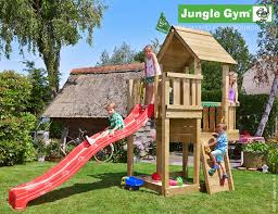 Backyard Jungle Gyms by Climbing Frame And Slide Jungle Cubby