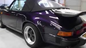 purple porsche 911 porsche 911 carrera 3 2 cabriolet 1984 purple walk around review