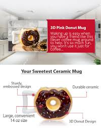 Best Mug by Amazon Com Ceramic Donut Mug Delicious Chocolate Glaze Doughnut