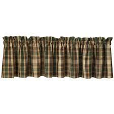 cabin and lodge decor curtains scotch pine valance