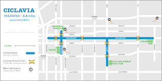 Metro Route Map by Ciclavia Pasadena Ciclavia