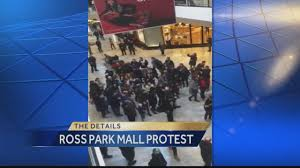 ross park mall black friday hours protesters walk through ross park mall
