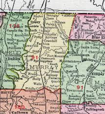 county map ga murray county 1911 map rand mcnally chatsworth