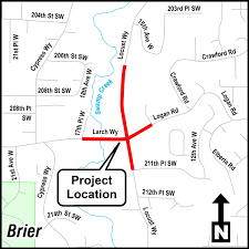Map Of Alderwood Mall Larch Way Logan Road And Locust Way Intersection Improvement
