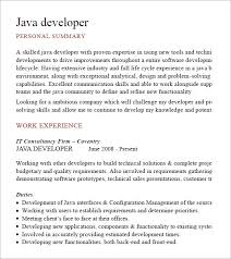 Sample Resume For Java Developer by Java Developer Resume Templets U2013 6 Free Samples Examples Format