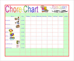 Chore Sheet Template Chore Chart Template 12 Free Sle Exle Format