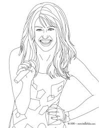 Miley Cyrus Happy Coloring Pages Hellokids Com Happy Coloring Pages