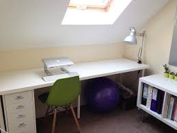 Ikea Study Table With Bookshelf Clean White Ikea Linnmon Adils Desk Setup With Laptop On It