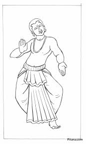 kuchipudi dancer u2013 coloring page pitara kids network