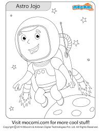 astronaut jojo jojo colouringpage kids free