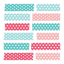 Washi Tape Designs by Set Of Colorful Patterned Washi Tape Stripes U2014 Stock Vector