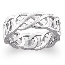 celtic knot wedding bands sterling silver celtic knot wedding band 18048 limoges jewelry