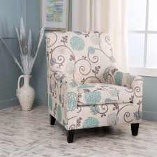 hampton house furniture hampton ivory and blue floral fabric club chair u2013 noble house