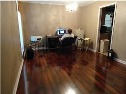 Sj Home Interiors Dining Room Interesting Dark Pergo Flooring With Wood Railing For