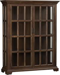wood and glass cabinet barnstone cabinet crates barrels and wood stain
