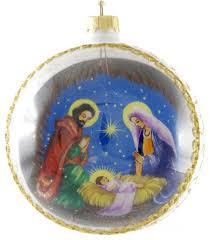 joseph and baby jesus painted glass