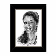 pencil sketch her frame
