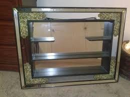 illinois moulding vintage framed wall shelf mirror antique
