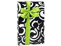 damask wrapping paper black white bold scroll damask gift wrapping paper
