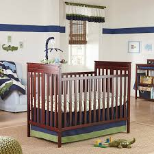 alligator blues collection baby 4 piece crib bedding set hippo