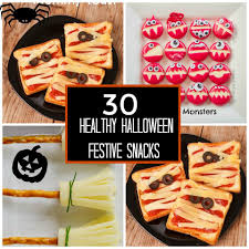 30 healthy halloween treats for home parties or for trick or